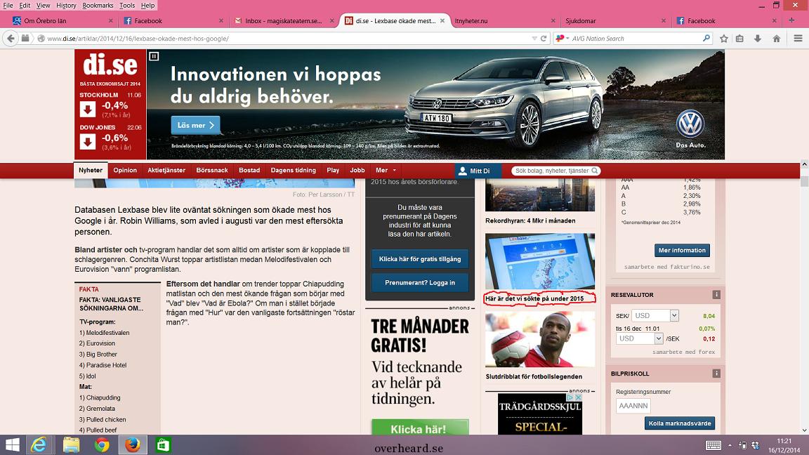Print screen från di.se 16/12 2014. (rödmarkering tillagd)